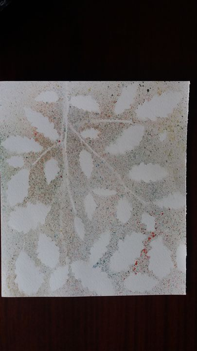 Spray painting of leafs - Kanchan's