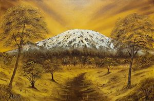 The golden heart of mt kilimanjaro