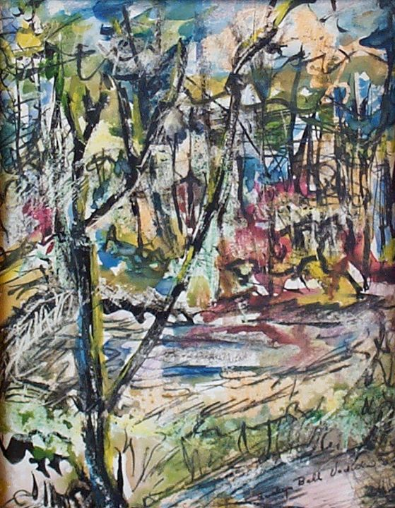 Abstract Forest Scene - Evelyn Bell Vodicka