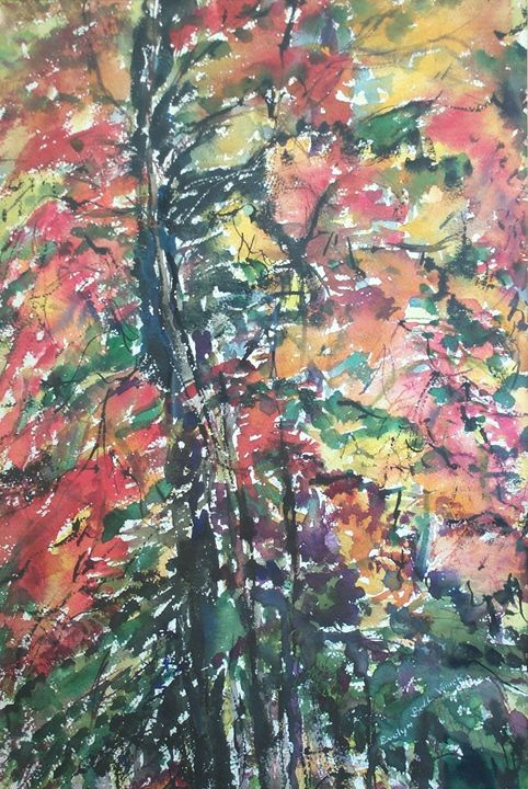 Abstract trees - Evelyn Bell Vodicka