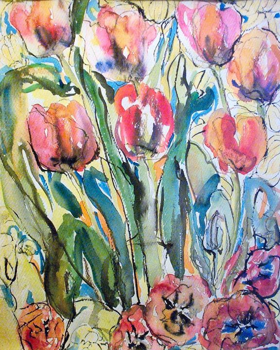 Watercolor Tulips - Evelyn Bell Vodicka