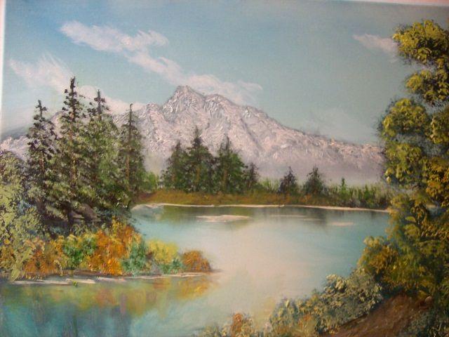 Mountain Lakeside - JKHughesPaints