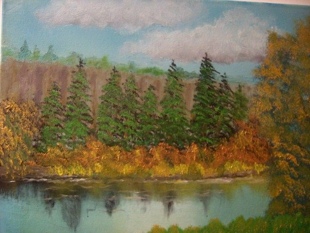 Treeline River - JKHughesPaints