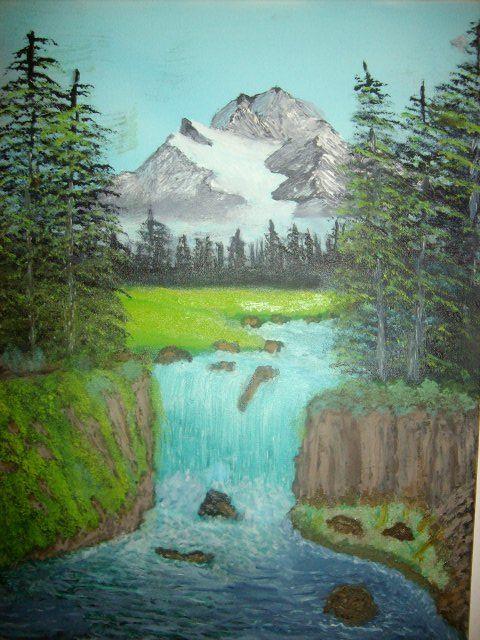 Mountain Waterfall - JKHughesPaints