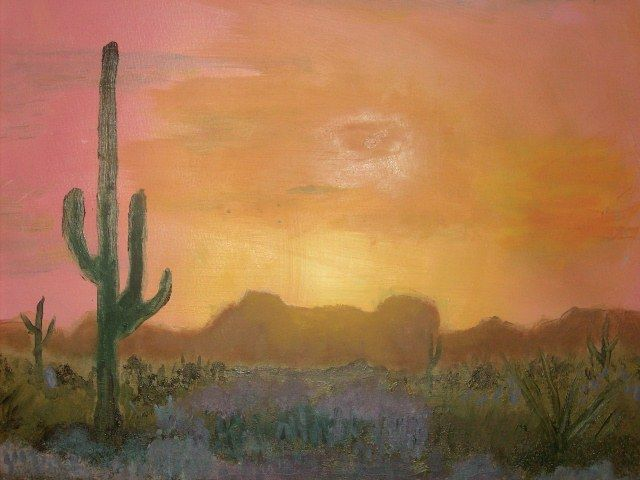 Desert Sunset - JKHughesPaints
