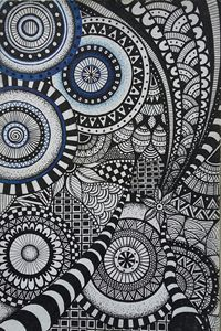 Zentangle/geometric drawing