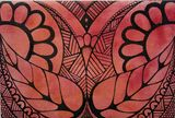 Red/orange zentangle flower canvas