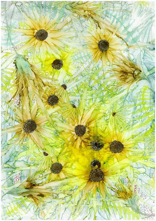 Yellow and green starburst - Nicoletdriver