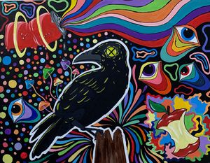 Colorful Crow