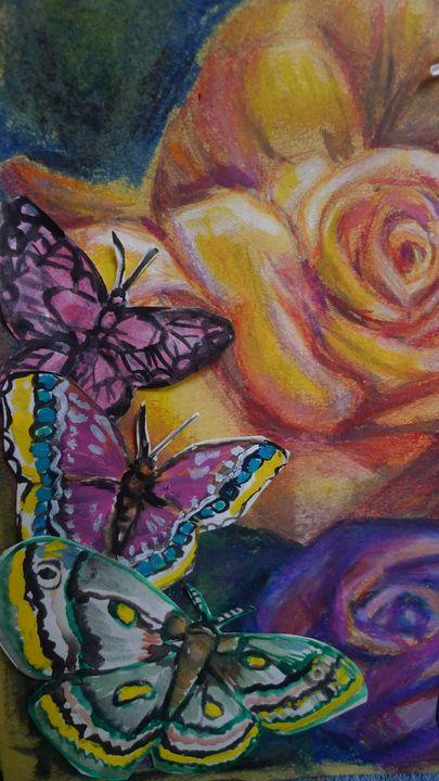 butterflies and rose - Suk Sun