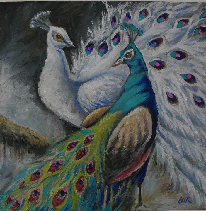 peacock pair - Suk Sun
