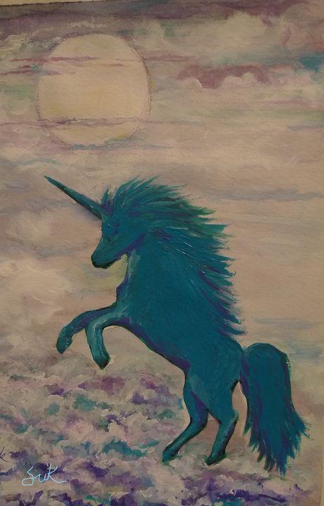 moonlight with unicorn - Suk Sun