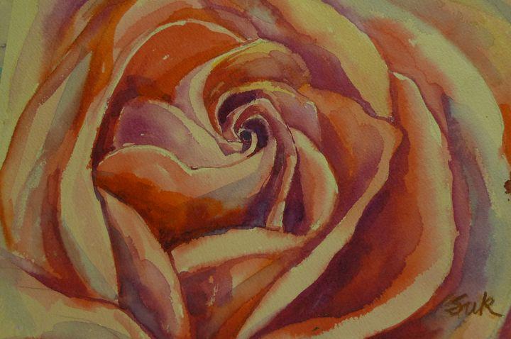 red rose face - Suk Sun