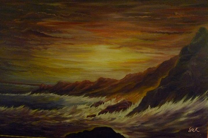 sunrise wave ocean - Suk Sun