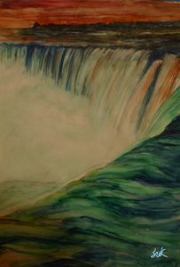niagara waterfall of sunset