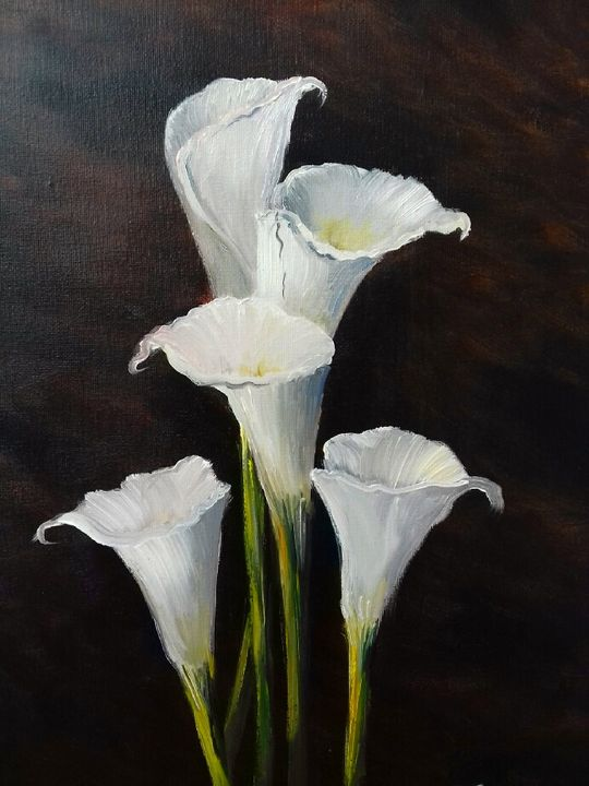 Lilies - Stephen conway oil paintings