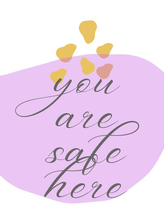your are safe here, home decor, wall - amanya