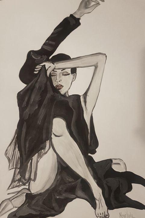 Black dress - Drawings