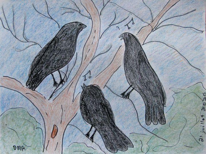 Three Crows - grammasfolkart