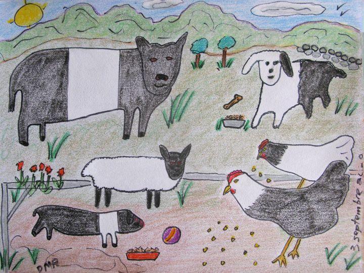 A Farm in England - grammasfolkart