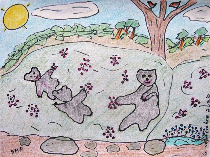 Bears Love Berries - grammasfolkart