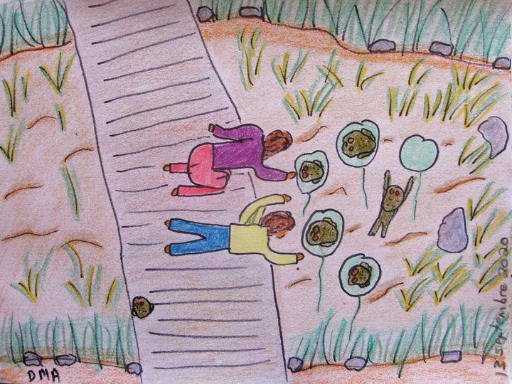 The Frog Pond - grammasfolkart