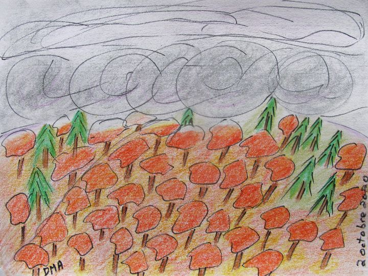 Clouds over Trees - grammasfolkart