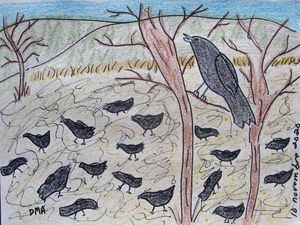 Crows in a Cornfield