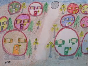 In Our Bubbles - grammasfolkart