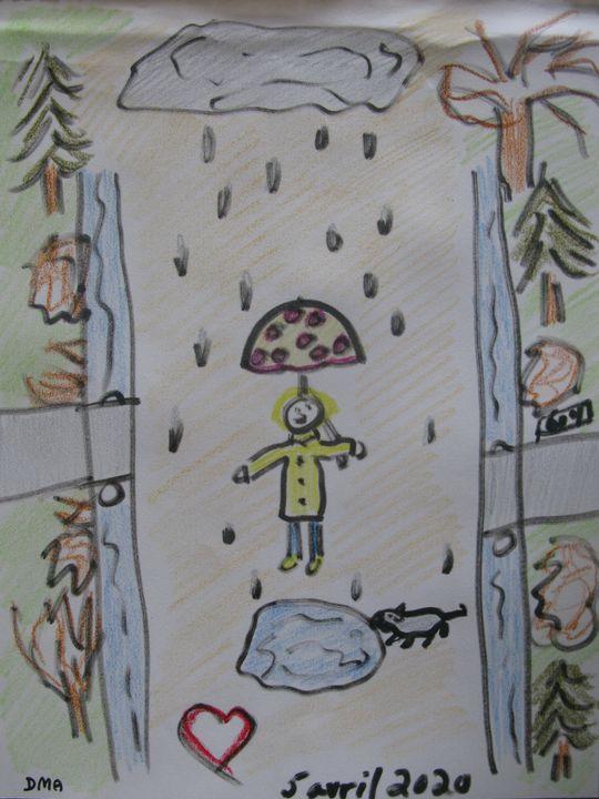 Walk in the Rain - grammasfolkart