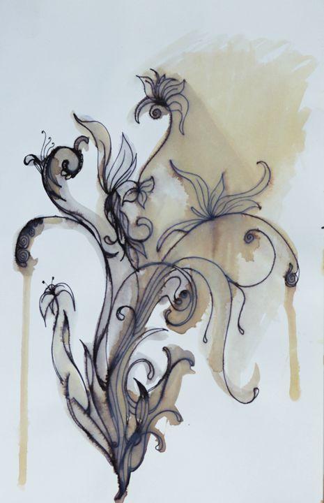 Tea Flowers - AmarisMorn Art