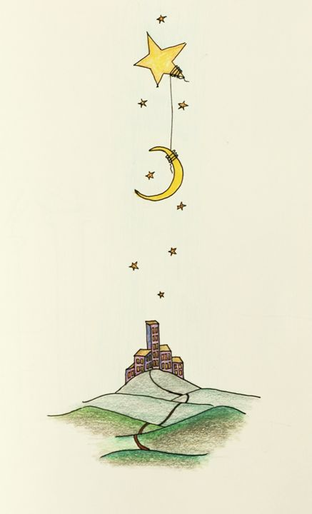 Moon Star City - AmarisMorn Art