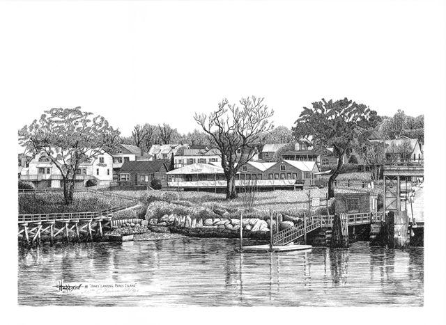 Jones' Landing, Peaks Island - William C Harrison