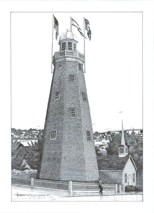 Portland Observatory 1807 - William C Harrison