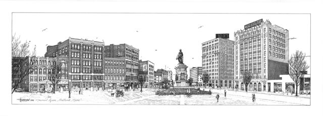 Monument Square, Portland ME - William C Harrison