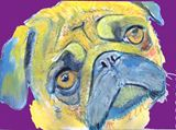 Pug art signed pug dog print