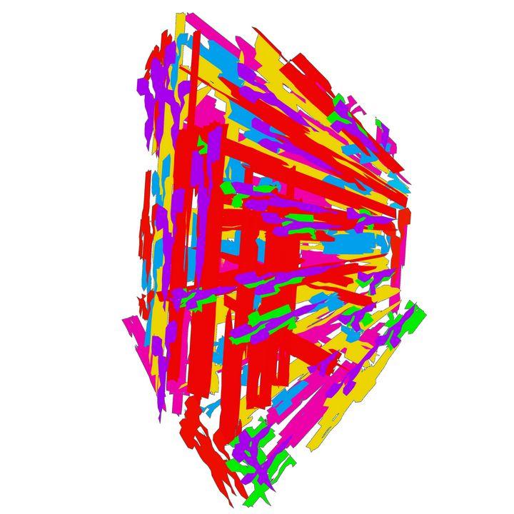 Colorful 3D Abstract Digital Art - Praneeth kumar