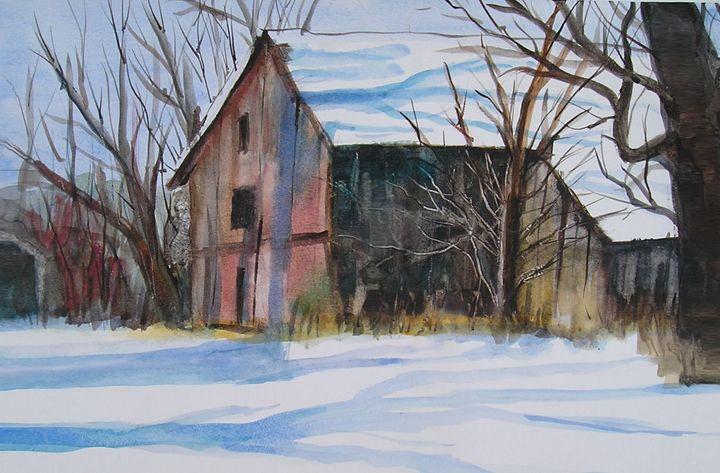 Barn in Winter - Barbara J Meacham