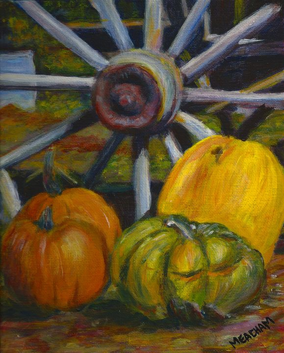 Wheel and Harvest Still Life - Barbara J Meacham