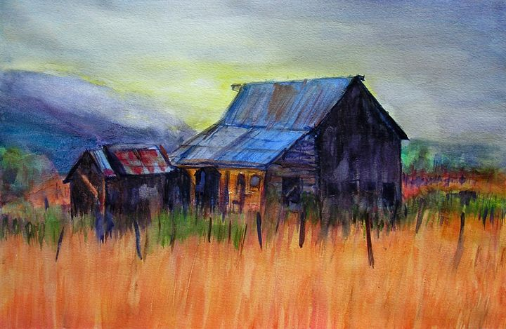 Barn in Field - Barbara J Meacham