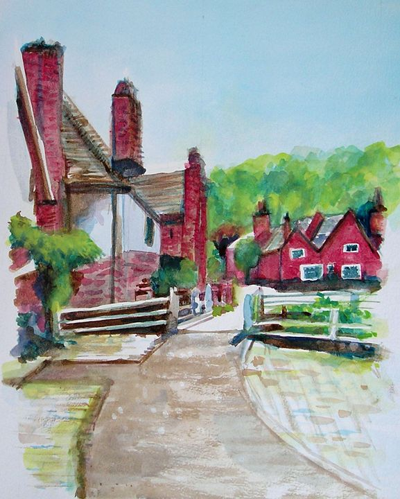 Cottages in Village - Barbara J Meacham