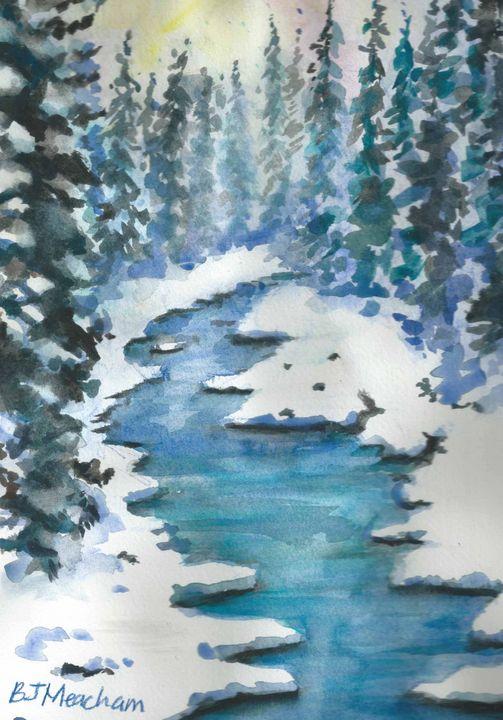 Stream in Winter - Barbara J Meacham