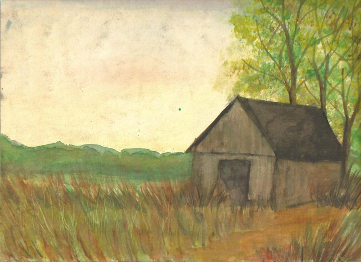 Old Barn in Field - Barbara J Meacham