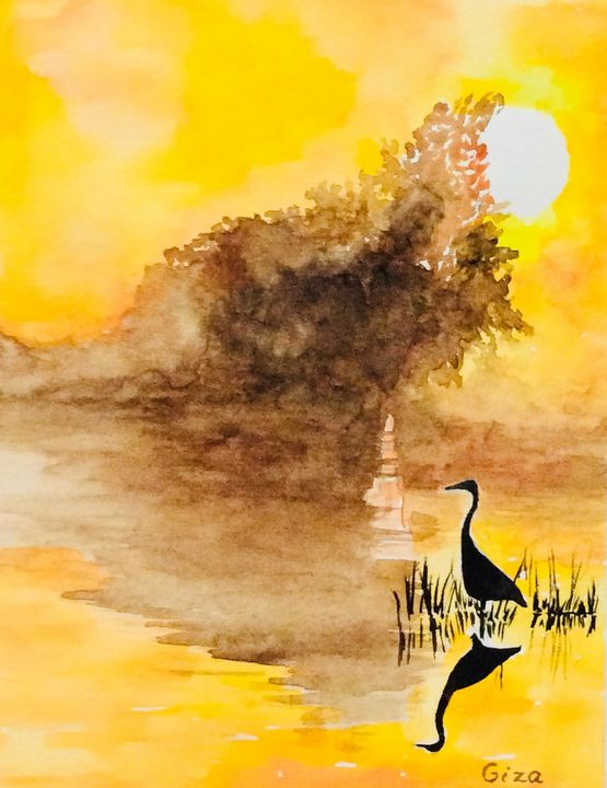 Sunlite Heron - ArtbyChristina