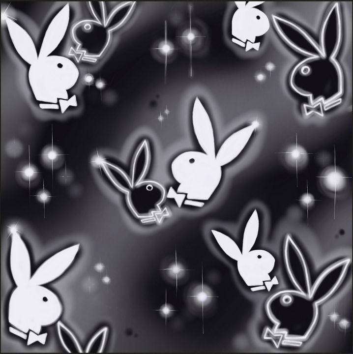 PlayboyBunnyBlackWhite - Hi-PRESS illustrations