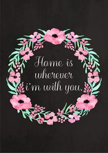 Floral Watercolor Quote Print