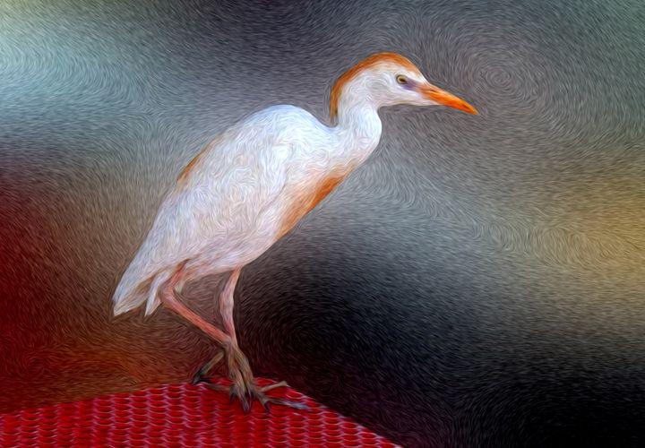 Bird in Faux Oil - Larry Mulvehill