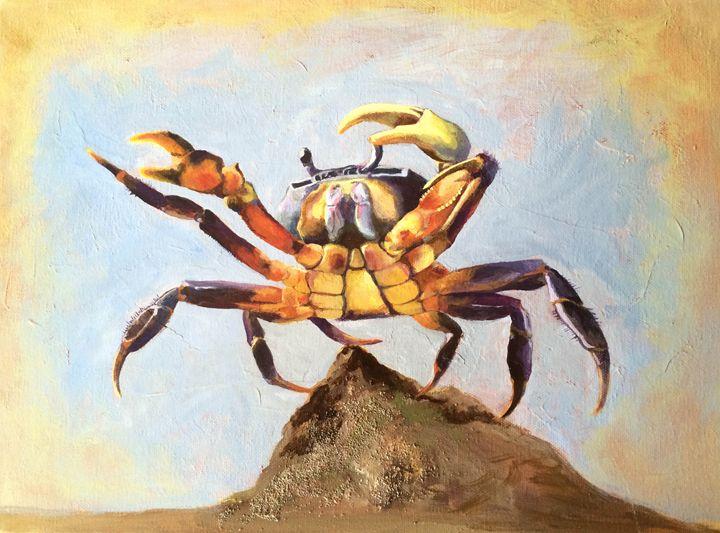 Colorful Crab - Palette & Pixels ; Art by Jaclyn DeSanti