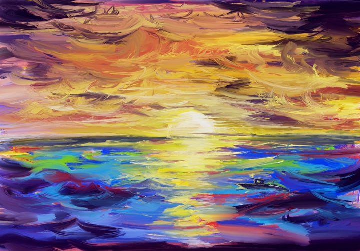 Sea and sunset - HQ studio