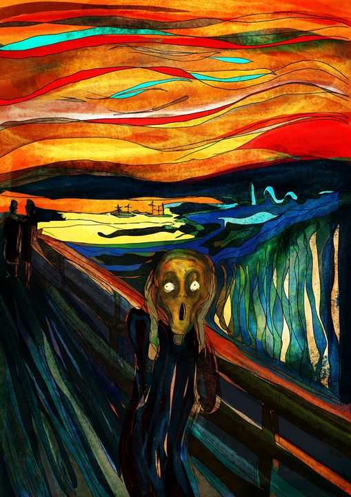 Screaming and Screaming (Munch) - Pierre Kant